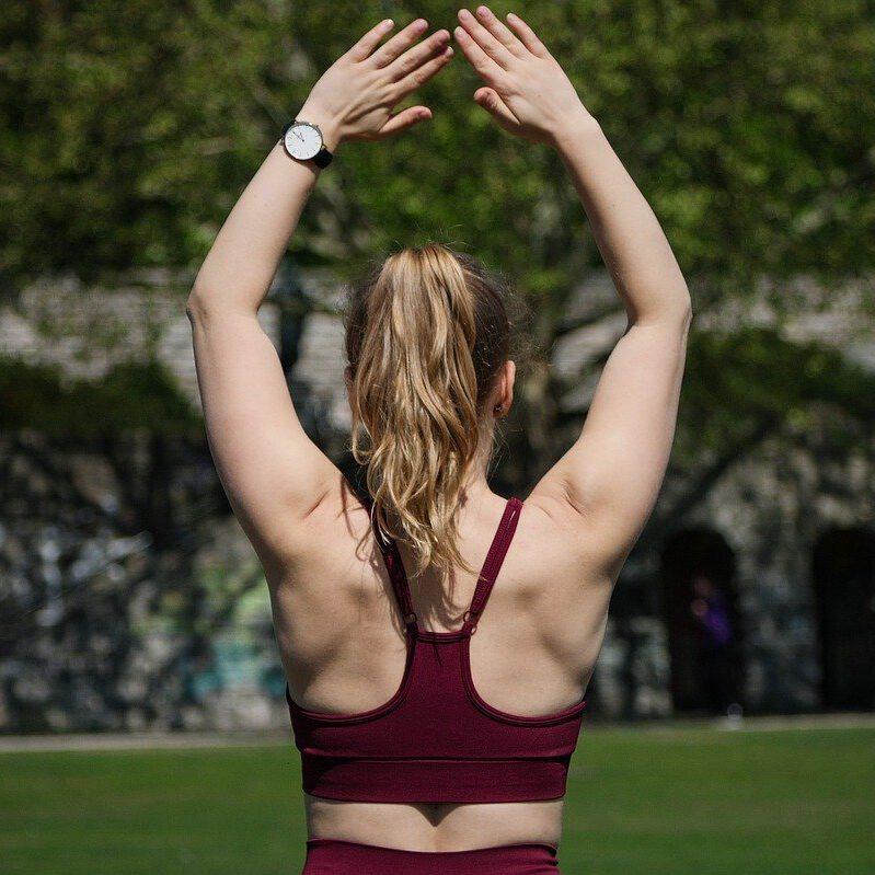 vrouw rug sportief