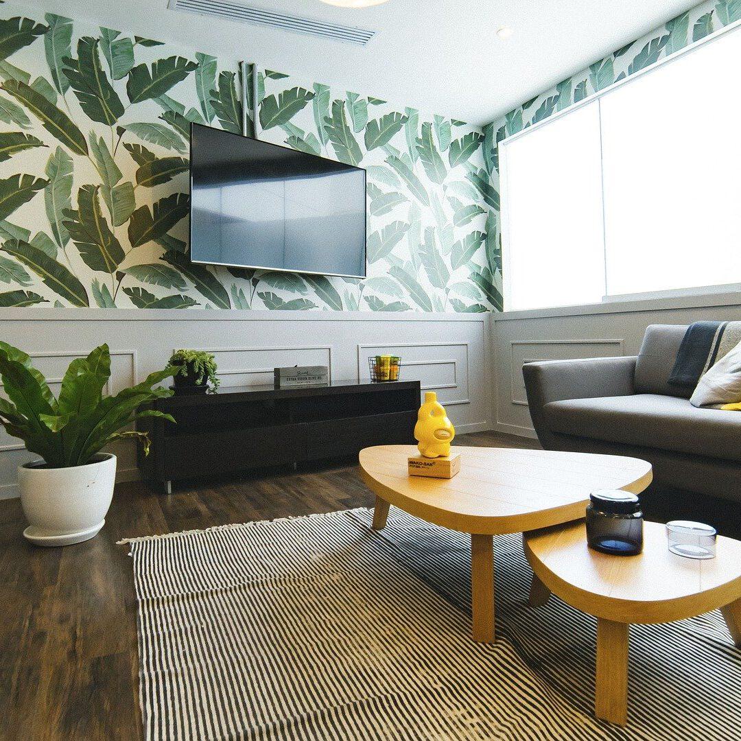 Woonkamer met meubels